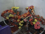 Our Ghost Bike, bedecked with flowers
