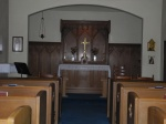 The Lady Chapel is one of the only surviving parts of the original church.