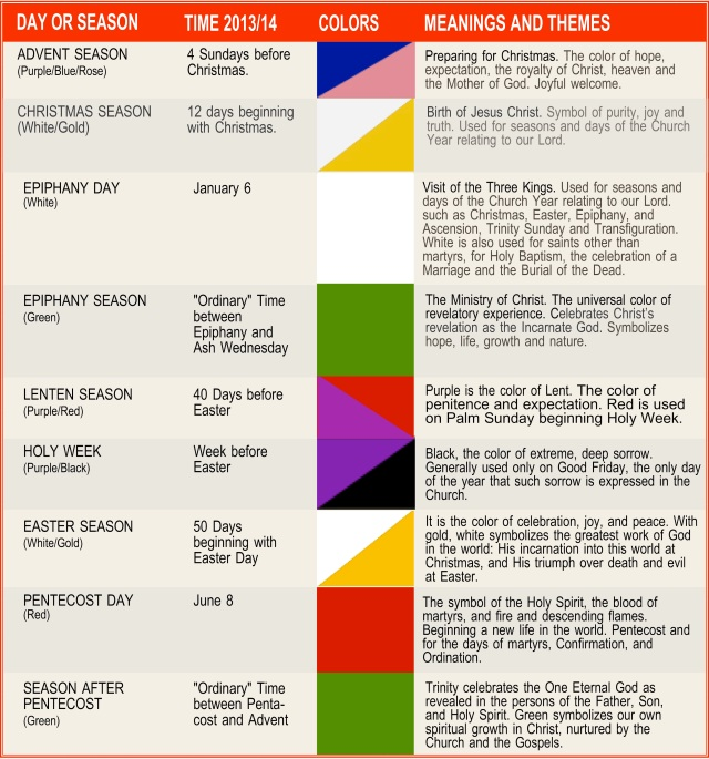 Liturgy Seasons and  450 Colors 2